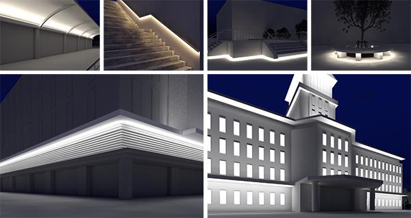 街を演出する、屋外・軒下用照明